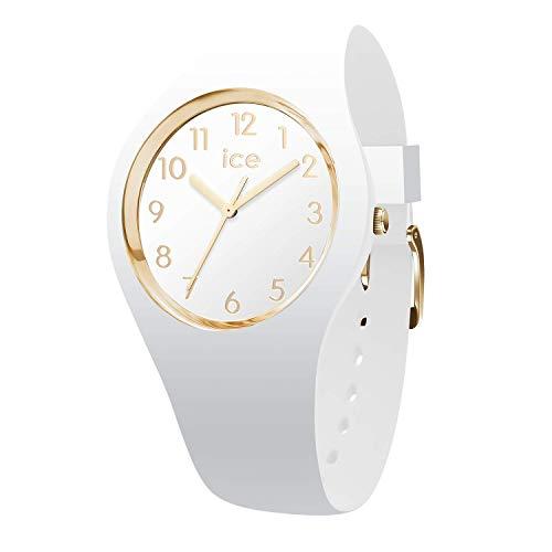 Ice-Watch - Ice Glam White Gold - Weiße Damenuhr mit Silikonarmband - 015339 (Medium) - Medium Armband