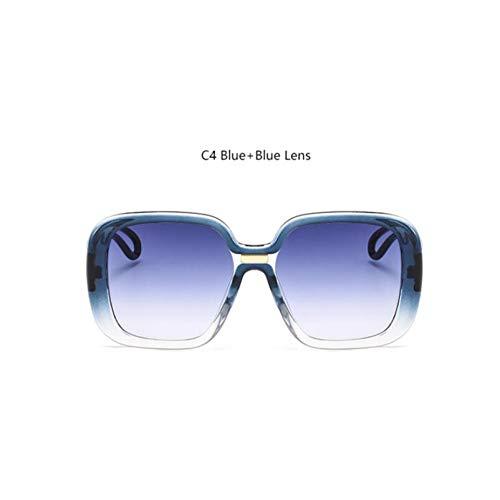 HYUHYU Übergroßen Sonnenbrillen Mode Damen Markendesigner Große Retro Sonnenbrille Crystal Fade...