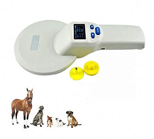 DSGYZQ Haustier Mikrochip Scanner RFID Handheld Tierchip Reader für Tier/Haustier/Hund/Katze/Schwein
