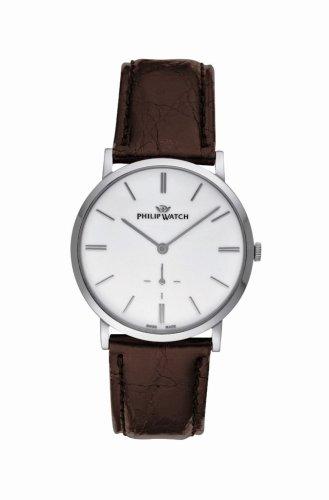 Philip Watch R8211191045 - Reloj de cuarzo unisex, correa de cuero color negro