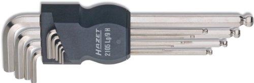 Hazet Winkelschlüssel-Satz, 2105Lg/9H