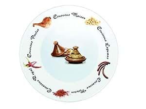 Assiette à couscous porcelaine décorée 26cm 2630038 - réception - Lot de 6