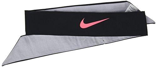 Nike Damen Court Stirnband, Black/Wolf Grey/Hot Punch, One Size (Winter Nike Stirnband)