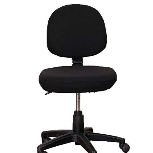 Levoberg Bezug für Bürostuhl, Elastischer Universal-Computerschreibtischstuhl-Bezug drehbar, Einfarbiger Stuhl-Bezug, abnehmbar und waschbar, Schwarz - Kategorie Holz Bürostühle