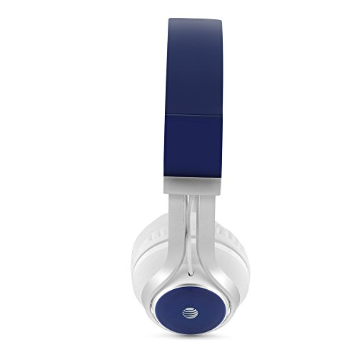 AT&T HPM10 Over-Ear Stereo Noise Cancelling Headphones with Built-In Microphone and Extra Bass - Blue Image 2