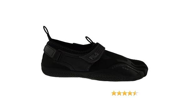 b66e6b336a Fila Mens Skele Toes EZ Slide Shoe - Black Black - 12 UK: Amazon.co.uk:  Beauty