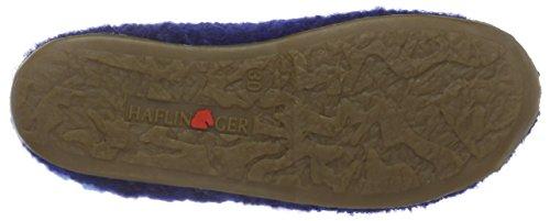 Haflinger Unisex-Kinder Star Hohe Hausschuhe Blau (Pazifik 71)