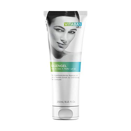Basengel - 250 ml. Basisch, pH-Wert 8,5. Feuchtigkeitsspendende Pflege mit Usnea Barbata Extrakt zur Unterstützung bei Basenkuren. Beruhigt nach dem Sonnenbad und erfrischt nach dem Sport.