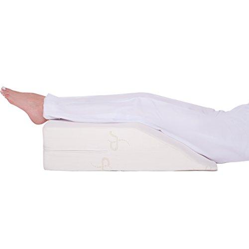 Supportiback® Orthopädisches Venenkissen - Memory-Schaum Bein-Kissen mit waschbarem Bezug - von Orthopäden entworfen - hilft bei postoperativer Genesung, Krampfadern, Rücken-, Hüft- & Beinschmerzen -