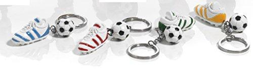 12 pz portachiavi scarpa calcio con pallone in resina bomboniera comunione cresima by mandorle bomboniere