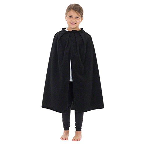 Unbekannt Charlie Crow Schwarzer Umhang - Einheitsgröße 3-8 Jahre (Für Schneewittchen-kostüme Jugendliche)