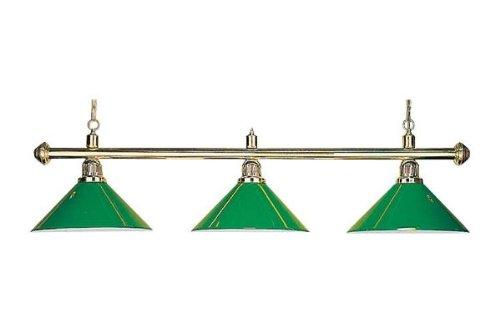 Billard Lampe 'Evergreen', grün, 3 Schirme, Ø35cm, 112cm