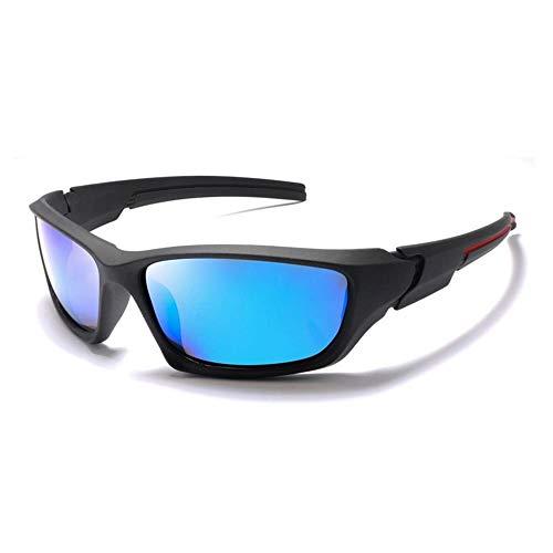 YFFSS Sonnenbrille Two Tone Reflective Lens Klassischer Vintage-Rahmen, Unisex UV400-Schutz (Farbe : B)