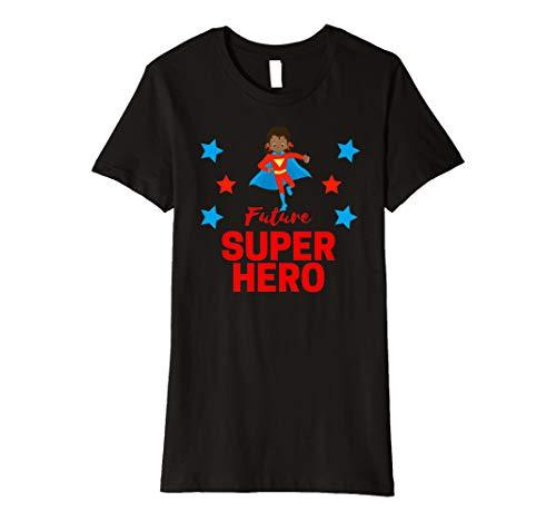 Zukunft Super Hero African American Mädchen T Shirt