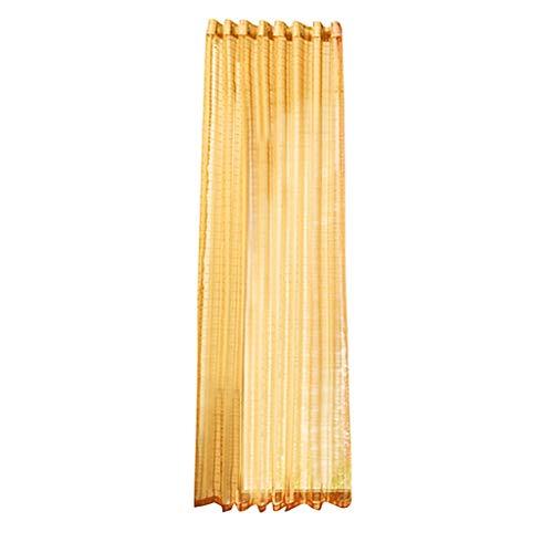 Xmiral Gardine Türvorhang Plaid Tüll Einfarbig Ösen Einfarbig Dekoration Gardine Für Kinderzimmer Wohnzimmer Schlafzimmer(Gold)
