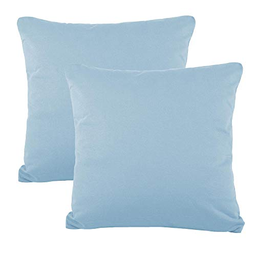 CelinaTex BeBasic Kissenbezug Doppelpack 50 x 50 cm Aqua blau Mikrofaser Dekokissen Bezug Jersey 5001727 -