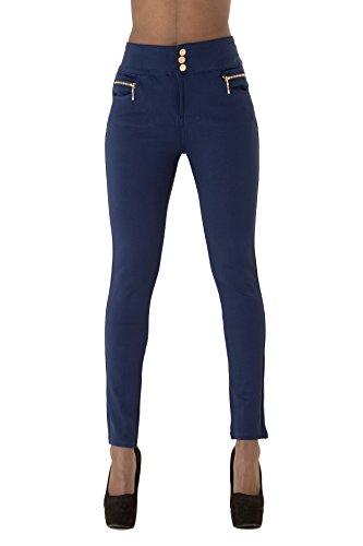 c21fad124 Mujer Talle Alto Negro Azul Slim Fit pantalones leggins elástico Skinny Fit  para mujer Plus tamaño