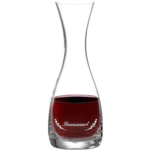 Leonardo Wein-Karaffe 800 ml inkl. Motiv-Gravur Dekanter aus Glas mit - Wein-glas-vitrine