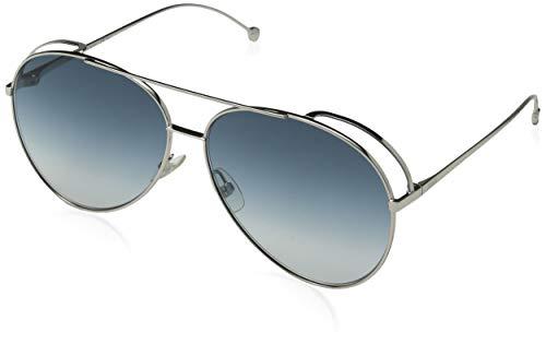 Fendi Damen FF 0286/S 08 010 63 Sonnenbrille, Silber (Palladium Grey)
