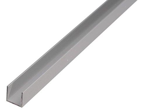 GAH-Alberts 471903 U-Profil - Aluminium, silberfarbig eloxiert, 1000 x 20 x 8 mm