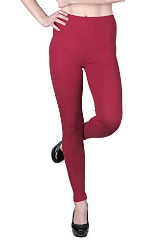 jandaz® Standard- oder Winter Dick voller Länge oder zugeschnitten Leggings Größen S-3X L 95% Baumwolle Vielzahl von Farben. Full Length Red