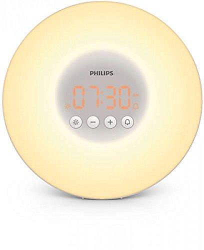 PHILIPS Eveil Lumière avec 10 Réglages d'Intensité Lumineuse/Alarme