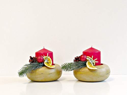 Advents Gesteck Holzschale Adventskranz Weide Silber Holzstern Advent Weihnachten Kranz Gold Advent Sterne Kugeln
