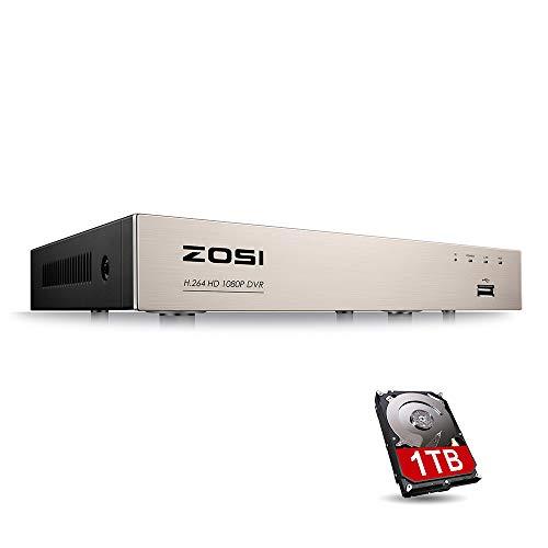 ZOSI 4-in-1 8CH 1080P H.264 DVR Recorder Receiver 1TB HDD für Videoüberwachung Aufzeichnungsgerät H. 264 Dvr