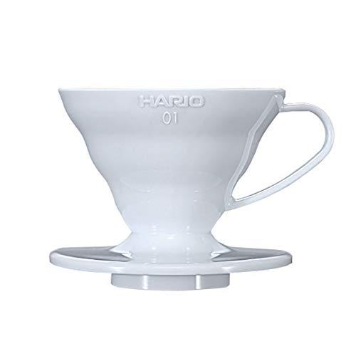 Hario V60 Plastic Coffee Dripper (Size 01, White)