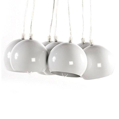 Lampe à suspension design BARE en métal (blanc)
