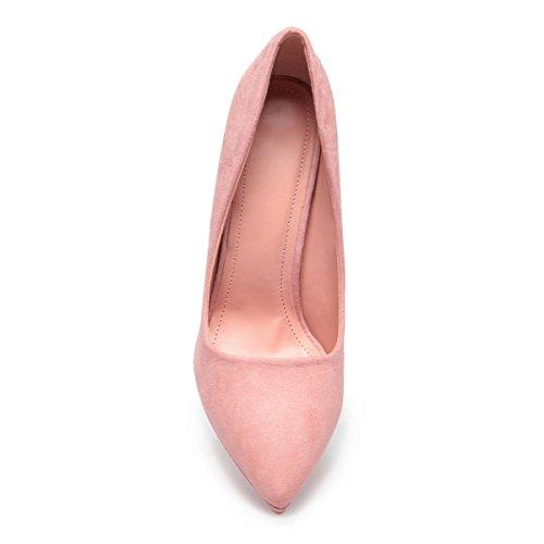 La Modeuse - Escarpins stilettos à bout pointu Rose