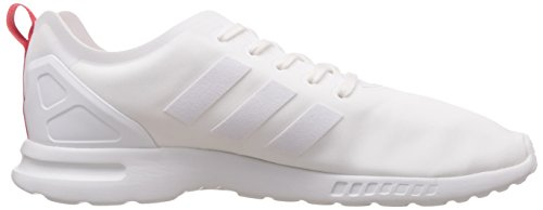 adidas ZX Flux Smooth Damen Sneakers Weiß (Core White/Core White/Tomato F15-St)