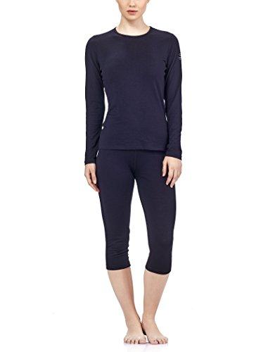Icebreaker Damen Funktionsunterhemd Oasis Langarm Crewe, black, XL, 100514001