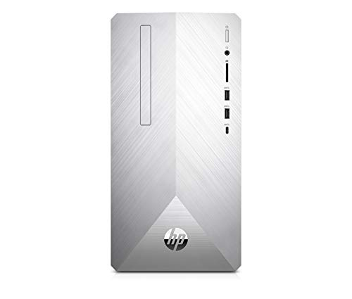 HP Pavilion 595 p0026nl Desktop PC Intel Core™ i5 8400 8 GB di RAM SSD da 256 GB NVIDIA GeForce GTX 1050 Ti Argento naturale
