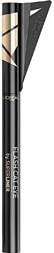 L'Oréal Paris Superliner Flash Cat Eye, Eyeliner Waterproof a Lunga Tenuta, Con Ala Stencil, Nero,
