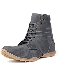 Bacca Bucci Men Grey Canvas Boots