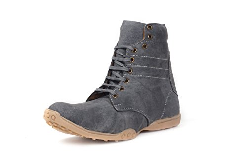 Bacca Bucci Men Grey Canvas Boots 9 Uk  available at amazon for Rs.607