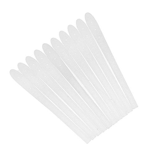 MagiDeal 10 Stück Silikon Antirutsch Überzüge für Bügelenden / Brillenbügel Silikon Socke - Weiß, Einheitsgröße