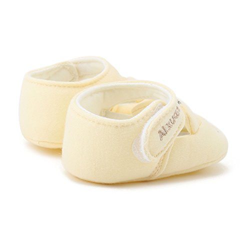 MiyaSudy Chaussures Enfant Bébés Filles Garçons Princesse Coton Cartoon Semelles Douces Plates Crib Shoes Princesse jaune