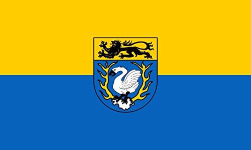 magFlags Flagge: XL Kreises Aachen Der Kreis führt eine Flagge mit den Farben gelb und blau | Querformat Fahne | 2.16m² | 120x180cm » Fahne 100% Made in Germany