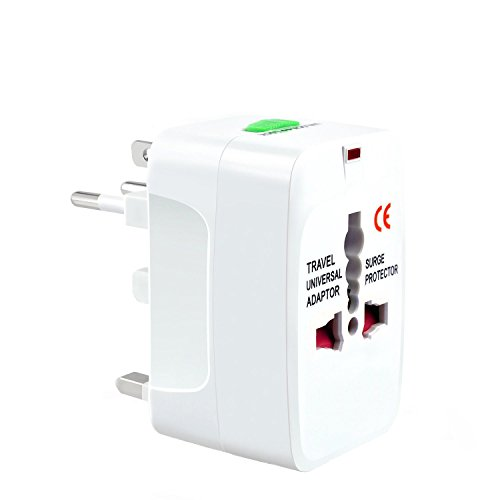 Travel Adapter, KoTop International Power Plug Converter UK Plug Adapter Kits Worldwide Universal All in One AC Wall Outlet Charger Adapters for UK, US, AU, Europe & Asia - White