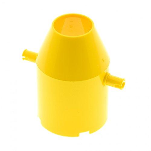 Bausteine gebraucht 1 x Lego System Kipper Trommel gelb 4x4x5 Beton Zement Mischer Zylinder Kran Tonne Tipper Drum 6600 30398 -