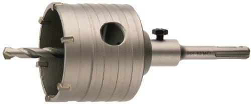 Bohrcraft Schlagbohrkronen komplett mit Bohrer und SDS-Schaft, 82 mm in Werksverpackung, 1 Stück, 23001502082