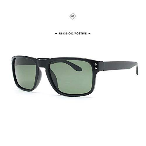 LKVNHP Neue Hochwertige PolarisierteSonnenbrille Männer Reise SonnenbrilleFashion SquareBrille Hochwertige Angeln Brillen R8133 C2 Box