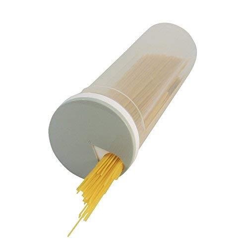 Dispenser per spaghetti, in plastica, con coperchio grigio rotante