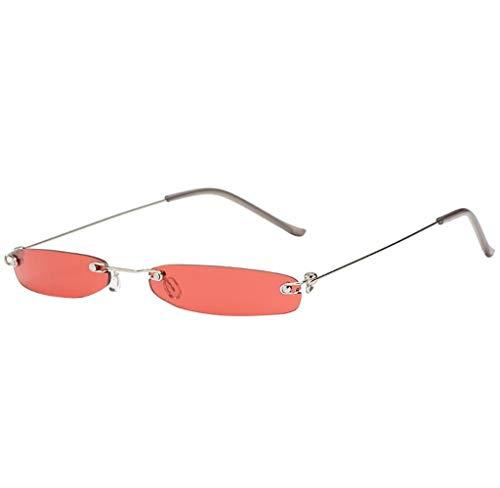 Tomatoa Sonnenbrille für Herren & Frauen, Frauen Mann vintage Transparent Small Frame Sunglasses Retro Eyewear Fashion
