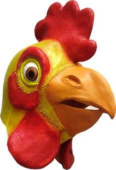 Gummimaske Huhn für den Kopf