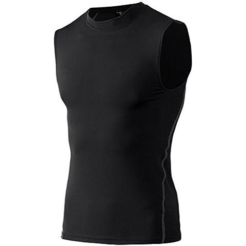 YiJee Top Core Compression Sin Mangas Camiseta de Running para Hombre