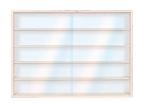 Alsino Setzkasten v-60.5 Vitrine Regal Hängevitrine 60 cm x 49 cm x 8,5 cm - 5 Fächer, 2 Plexiglasscheiben - Mit Montageanleitung - Kein Zusammenbau nötig