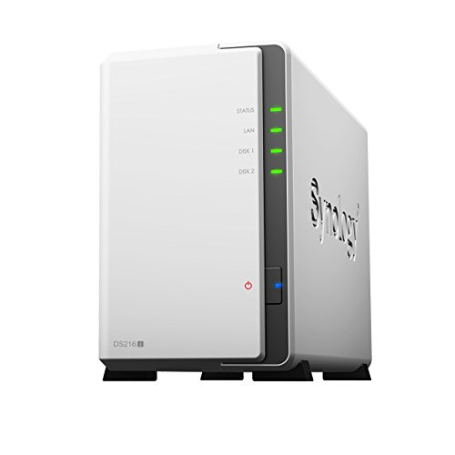 Synology DS216J 2 Bay Desktop NAS Gehäuse, UK Stecker.
